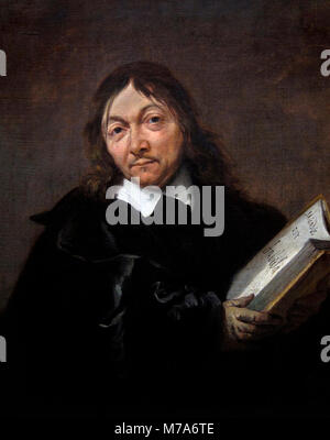Descartes. Portrait of the French philosopher Rene Descartes (1596-1650) by Jan Baptist Weenix, oil on canvas, c.1647 - Stock Photo