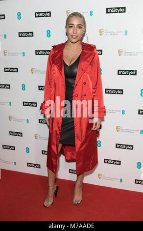 Guests attend event as fashion and beauty title throws annual party to celebrate the EE British Academy Film Awards - Stock Photo