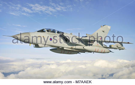 Panavia GR4 Tornado. Pictured here on 12 October 2012 is a Panavia GR4 Tornadoas it undertakes a training sortie - Stock Photo