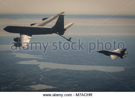 Exercise Northern Lighting sets stage for modern and legacy aircraft. A 33rd Fighter Wing Lockheed Martin F-35A - Stock Photo