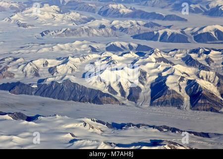 North America, Canada, Nordkanada, Nunavut, Ellesmere island, glacier, mountain landscape, ice scenery, - Stock Photo