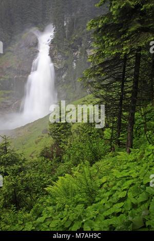 Austria, Tyrol, Hohe Tauern, High Tauern National Park, Krimml waterfalls, - Stock Photo