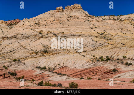 The USA, Utah, Garfield County, Grand Staircase-Escalante National Monument, Escalante, scenery in the Scenic Byway - Stock Photo