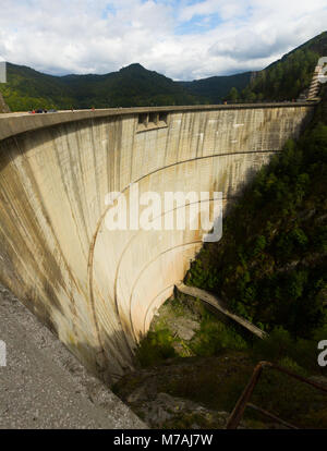 Image of Vidraru Dam in Romania. - Stock Photo