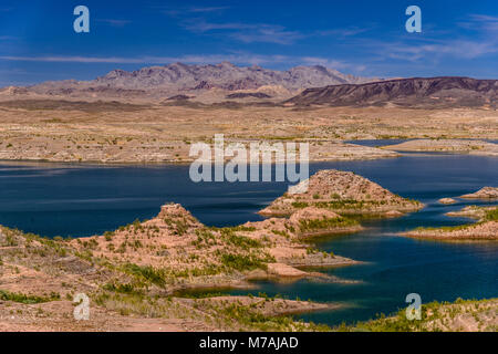 The USA, Nevada, Clark County, Boulder city, Lake Mead National Recreation Area, Boulder Basin, Las Vegas Bay - Stock Photo