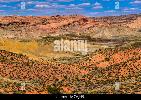 The USA, Utah, Grand county, Moab, Arches National Park, cache Valley - Stock Photo
