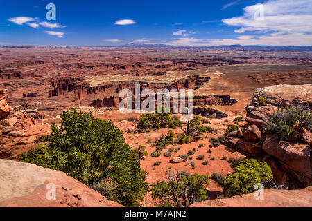 The USA, Utah, San Juan county, Moab, Canyonlands National Park, Island in the Sky, Grand View Point Overlook towards - Stock Photo