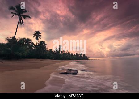 Caribbean dream beach in sunset, Punta Vacia, Puerto Rico, Caribbean island,