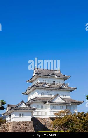 Japan, Honshu, Kanagawa Prefecture, Odawara, Odawara Castle, The Castle Tower - Stock Photo