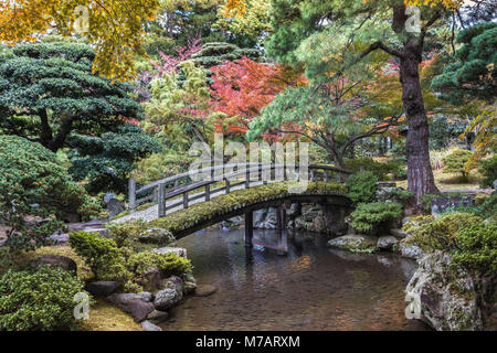 Japan,  Kyoto City, Imperial Palace Gardens - Stock Photo