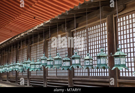 Japan, Nara City, Kasuga Taisha Shinto Shrine, - Stock Photo
