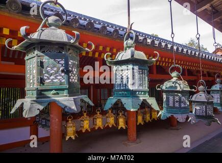 Japan, Nara City, Kasuga Taisha Shinto Shrine, - Stock Photo