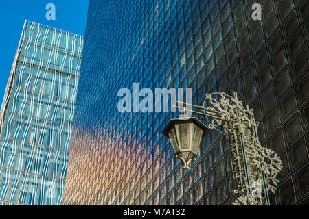 Japan, Tokyo City, Ginza District, Glass Wall - Stock Photo