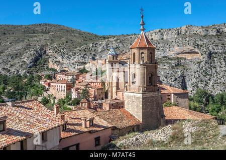 Spain, Aragon, Teruel Province, Albarracin City - Stock Photo