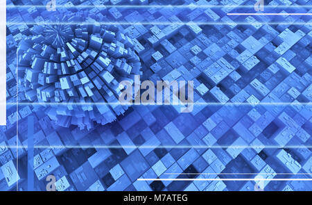 Blue abstract pattern - Stock Photo