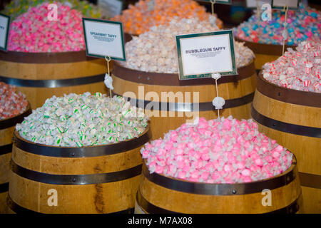 Saltwater taffies in a store, Pier 39, San Francisco, California, USA - Stock Photo