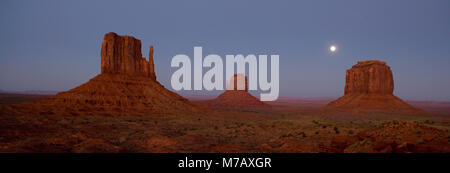 Rock formations on a landscape, Monument Valley Tribal Park, Arizona-Utah, USA - Stock Photo