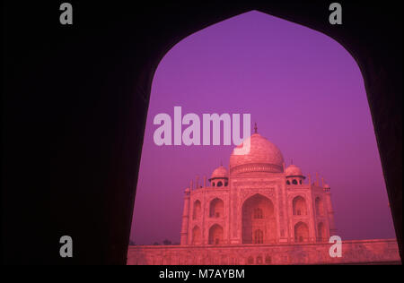 Facade of a monument, Taj Mahal, Agra, Uttar Pradesh, India - Stock Photo