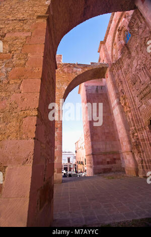 Ruins of a church, Ex Templo De San Agustin, Zacatecas, Mexico - Stock Photo