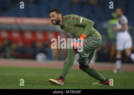 Stadio Olimpico, Rome, Italy. 9th Mar, 2018. Serie A Roma vs Torino.SIRIGU  in action during the match  at Stadio - Stock Photo