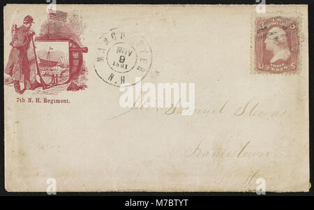 Civil War Envelope From Private G H Fellows Fort Federal