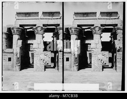 Egyptian views; Kom-Ombo. Great hypostyle hall of Temple of Sobk and Horoeris LOC matpc.01570 - Stock Photo