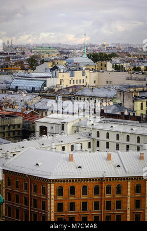 Old buildings located at downtown in Saint Petersburg, Russia. St. Petersburg was the imperial capital for 2 centuries, - Stock Photo