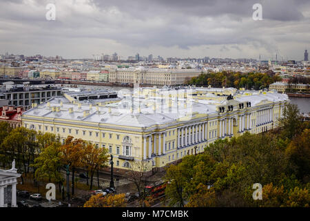 Old buildings located in Saint Petersburg, Russia. St. Petersburg was the imperial capital for 2 centuries, having - Stock Photo