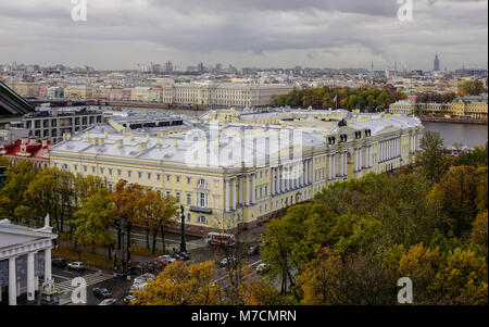 Old buildings located at downtown in Saint Petersburg, Russia. Saint Petersburg is home to The Hermitage, one of - Stock Photo
