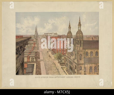 Fifth avenue from 42nd street, looking north LCCN2003680996 - Stock Photo