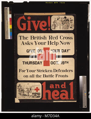 Give! and heal - W.S. Johnston & Co'y, Limited, Toronto. LCCN2005691256 - Stock Photo
