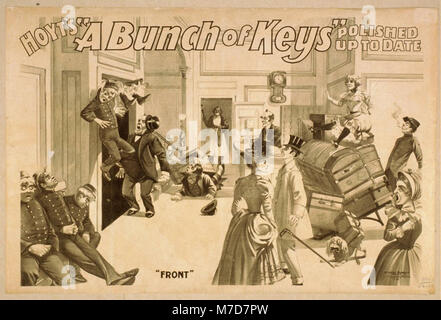 Hoyt's A bunch of keys polished up to date. LCCN2014636414 - Stock Photo