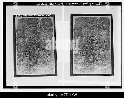 Maps, plans, restorations, etc. Warning Gentiles against intrusion into Temple LOC matpc.05695 - Stock Photo