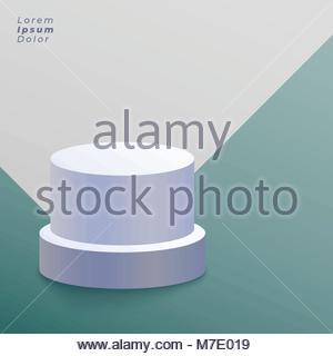 white round podium vector background - Stock Photo