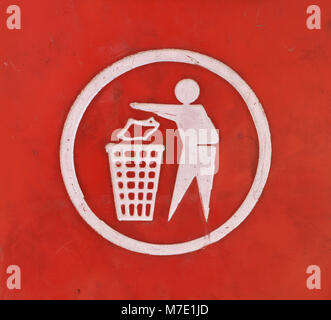 Recycling sign close up - Stock Photo