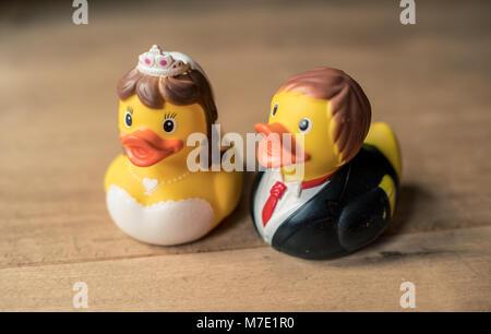 Rubber duck couple - Stock Photo