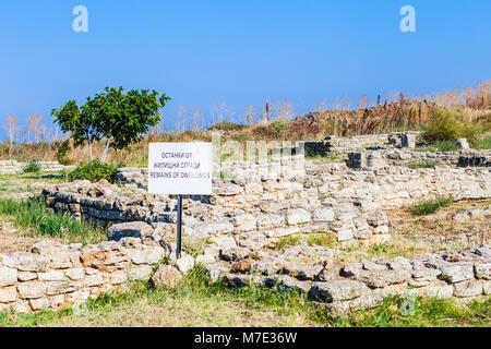 Ancient fortress on Cape Kaliakra, Bulgaria - Stock Photo