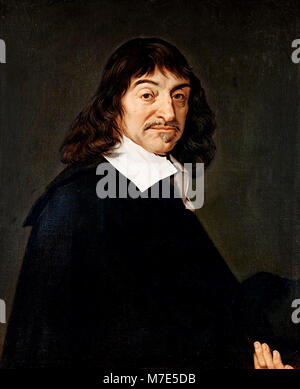 Descartes. Portrait of the French philosopher Rene Descartes (1596-1650), after Frans Hals, oil on canvas, late - Stock Photo