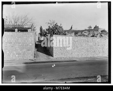 Newer Jerusalem. Street and wall with opening LOC matpc.00800 - Stock Photo