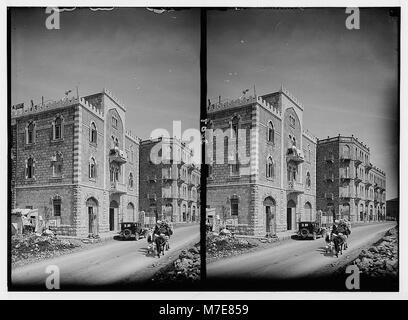 Newer Jerusalem and suburbs. Jaffa Road. Apartment houses built by Arabs LOC matpc.02563 - Stock Photo