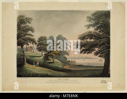 New York from Hobuck Ferry House New Jersey - Alexander Robertson delineavit ; Francis Jukes sculpsit. LCCN2009633677 - Stock Photo