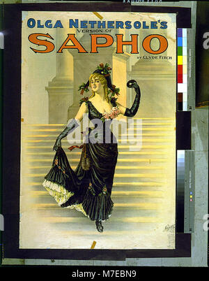 Olga Nethersole's version of Sapho by Clyde Fitch. LCCN2014636689 - Stock Photo