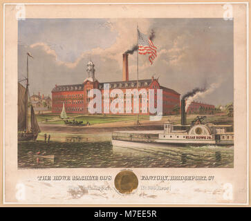 The Howe machine co's factory, Bridgeport, Co. LCCN2004667235 - Stock Photo
