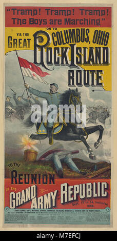 . The Great Rock Island route to the reunion of the Grand Army of the Republic.. LCCN2003677584 - Stock Photo