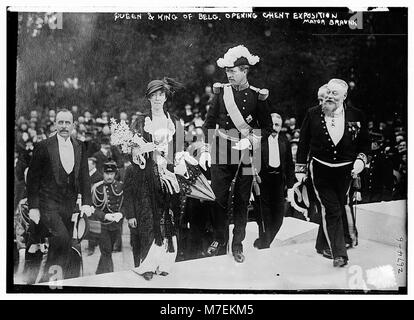 Queen & King of Belg. (i.e., Belgium) opening Ghent Exposition - Mayor Braunn (i.e., Braun) LCCN2014692849