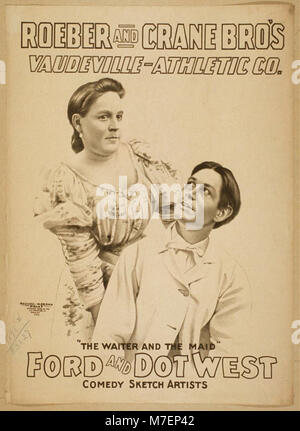 Roeber and Crane Bro's Vaudeville-Athletic Co. LCCN2014635728 - Stock Photo
