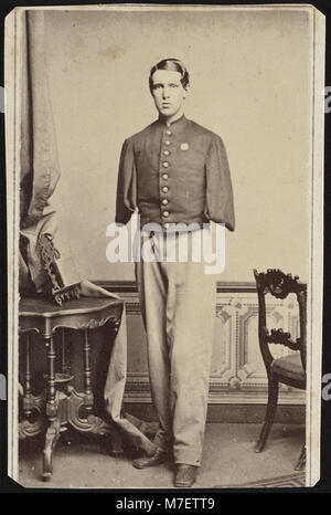Sergeant Alfred A. Stratton of Co. G, 147th New York Infantry Regiment, with amputated arms) - Fredricks & Co., - Stock Photo