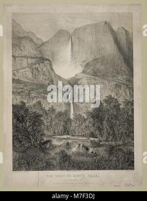 The great Yo-semite Falls, Mariposa County, Cal. LCCN2003670159 - Stock Photo