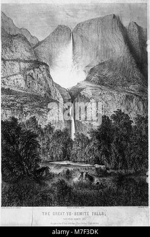 The great Yo-semite Falls, Mariposa County, Cal LCCN2003670159 - Stock Photo