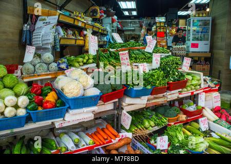 Greengrocer's Shop, Hong Kong - Stock Photo